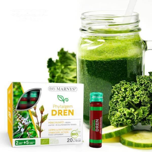 Zöld egészség - A méregtelenítő Marnys Phytalgem Dren és a zöld színű teák jótékony hatásai